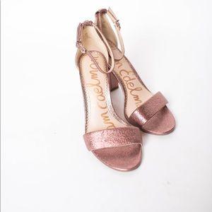 NEW Sam Edelman pink Yaro metallic heels 7 1/2